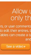 WordPress Taulukot jossa käyttäjät muokata vain omia tietojaan