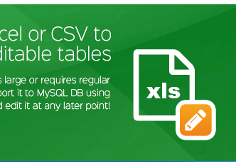 Import Excel eller CSV-filer till redigerbar Wordpress tabeller