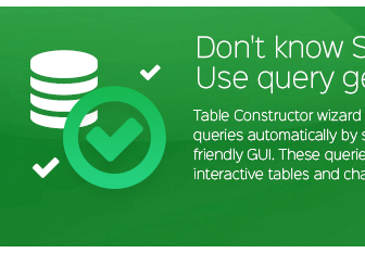 ٹیبل تعمیر وزرڈ آپ کو خود بخود ایس کیو ایل کے سوالات پیدا کرنے کے لئے کی اجازت دیتا ہے