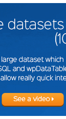 wpDataTables سرور سائیڈ پروسیسنگ خصوصیت اس dataset کے ساتھ واقعی فوری تعامل کی اجازت دے گا - ویڈیو