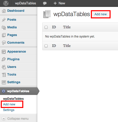 Wordpress table in front end from mysql query - Create table mysql example ...