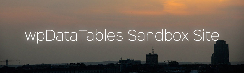 New wpDataTables Free Demo Sandbox site address