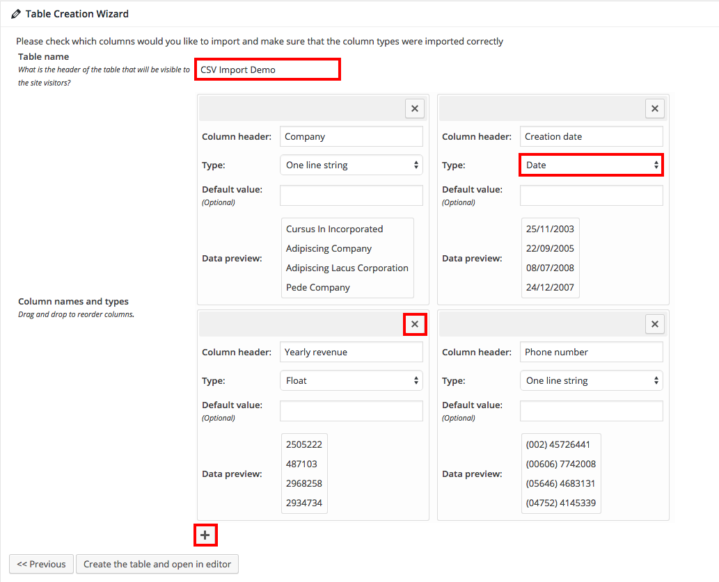 Importing tables from CSV or Excel to WordPress