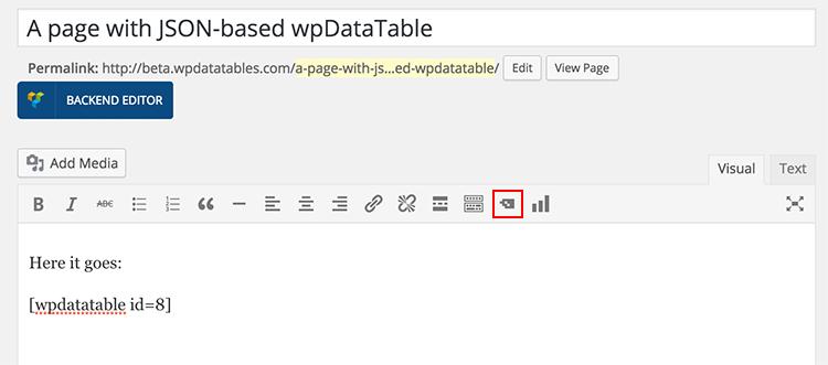 JSON-based wpDataTable