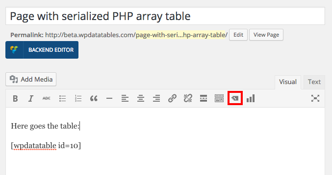Create a table in WordPress from serialized PHP Array