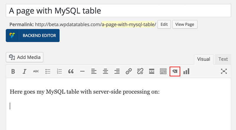 wpDataTables with server-side processing.