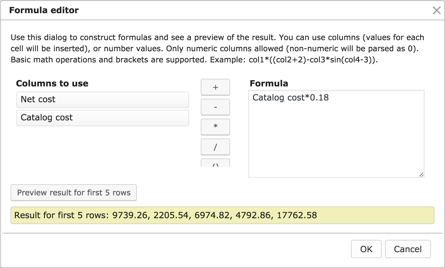 Calculate columns in WordPress Tables