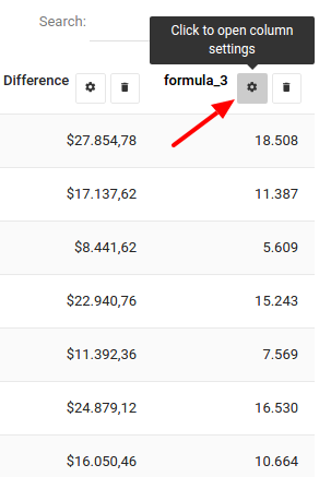 how to change chart name header with formula