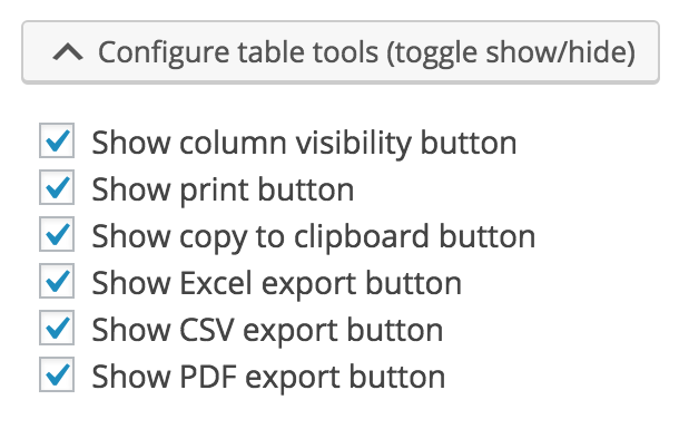 Configuring Table Tools in WordPress Tables
