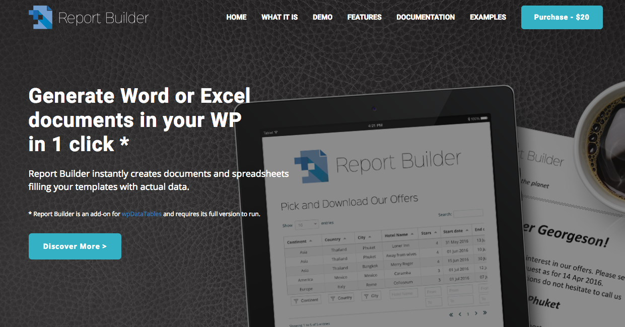 wpDataTables 1.6.2 and Report Builder released!