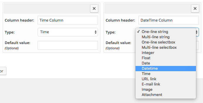 DateTime and Time columns are here!