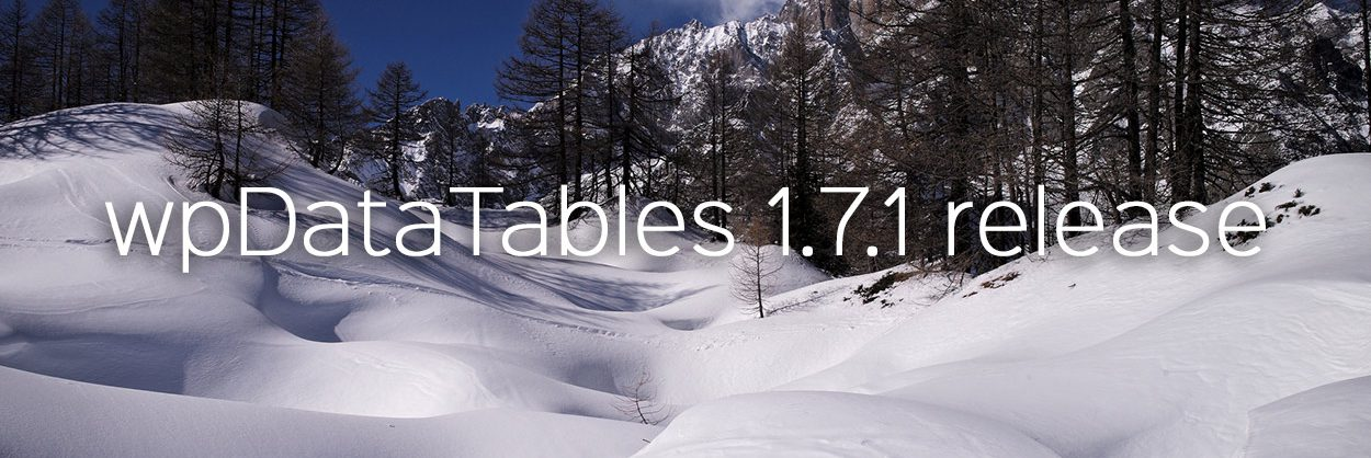wpDataTables 1.7.1 released – Charts.js support, Chart Live Preview and more