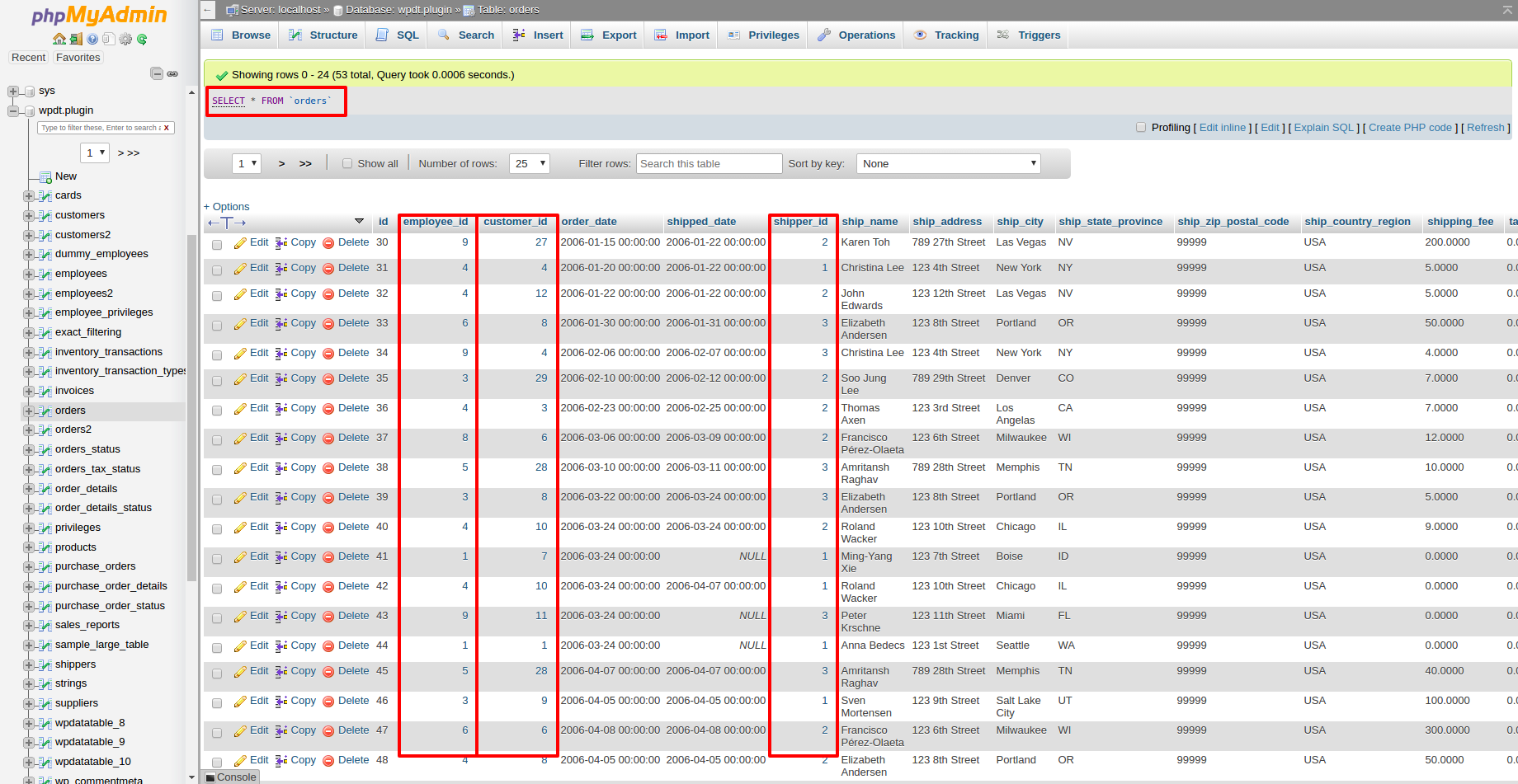 Configuring table relations foreign key wpdatatables tables now we can create the orders table the same way based on the select from orders mysql query we will see ids in the columns related to the customers gamestrikefo Gallery