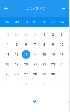 new date picker