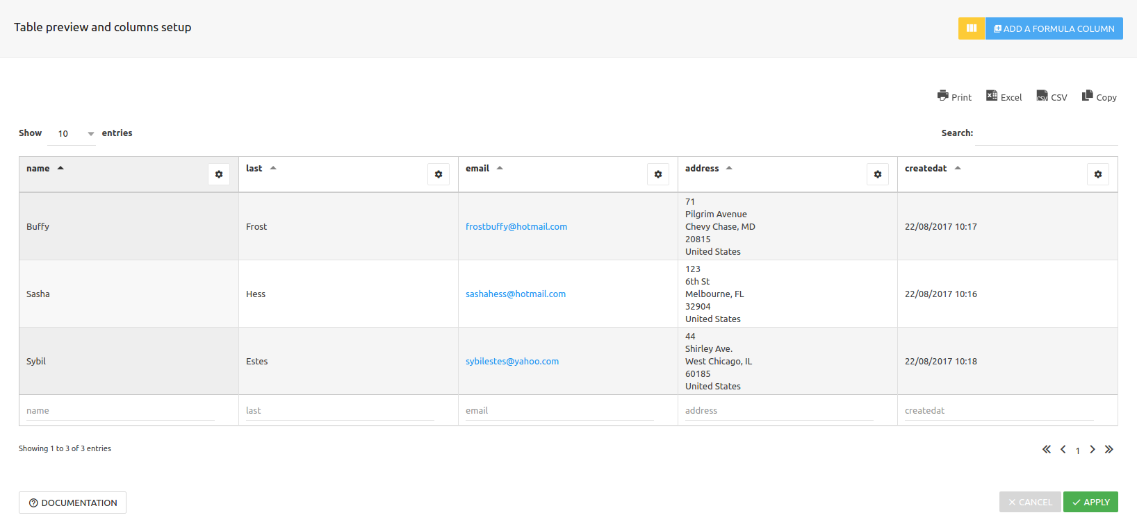 Formidable Forms integration for wpDataTables