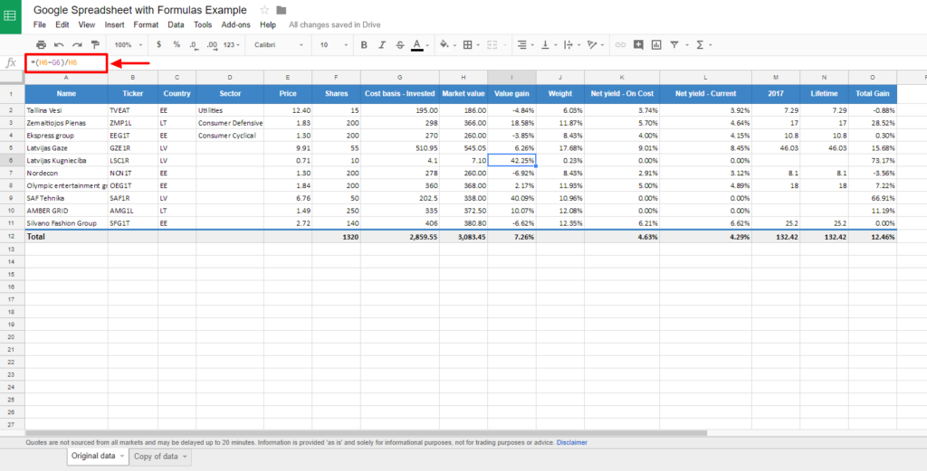 Creating Tables in WordPress from Google Spreadsheets with