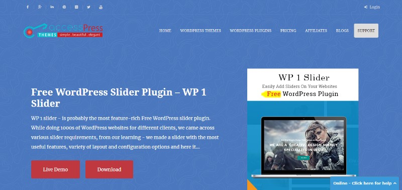 Create a WordPress slideshow with a Free Slider Plugin