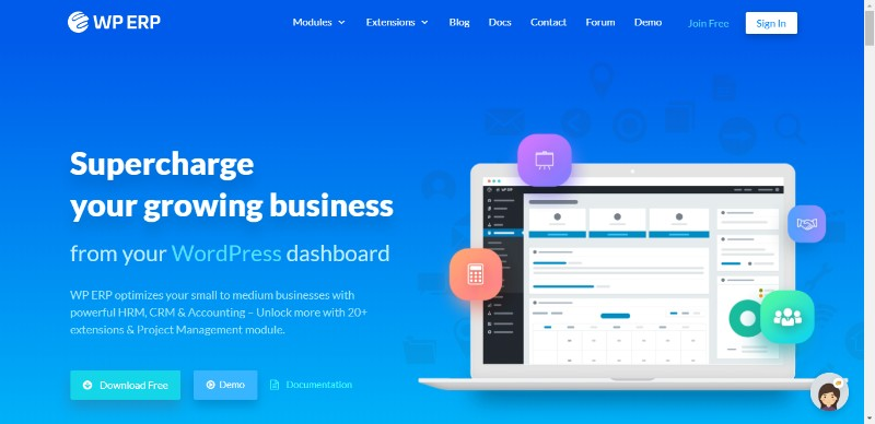WP ERP - Opensource HRM, CRM Accounting Solution for WordPress