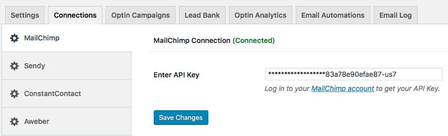 MailOptin integration with MailChimp