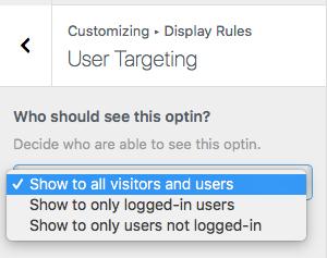 User Targeting
