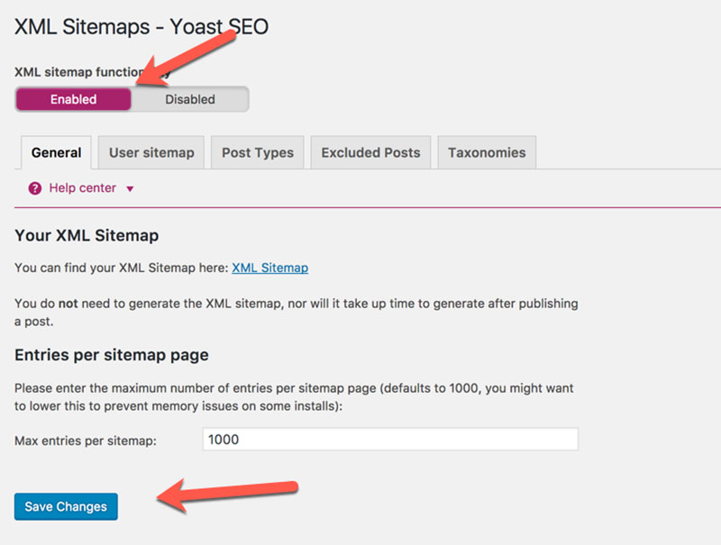 Image result for yoast seo sitemap