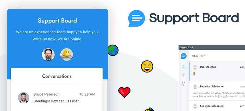 Support Board chat plugin for WordPress