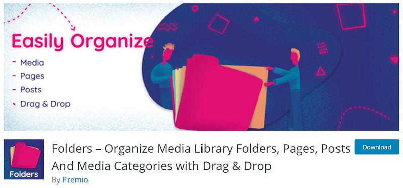 WordPress media library plugin options for your media folders