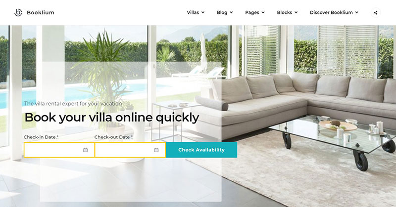 Vacation rental WordPress theme options to check out