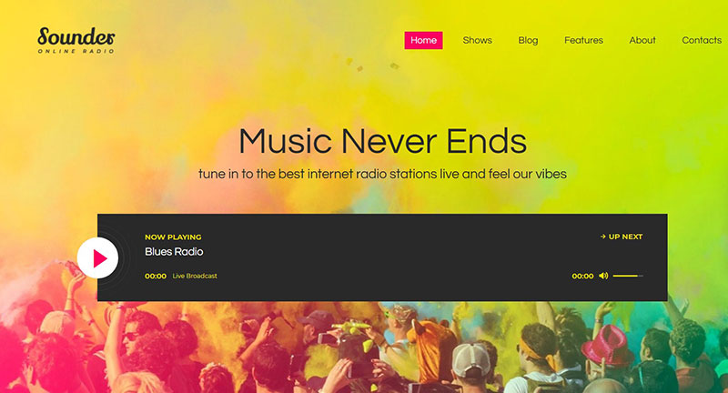 Get a Radio Station WordPress Theme from This Selection