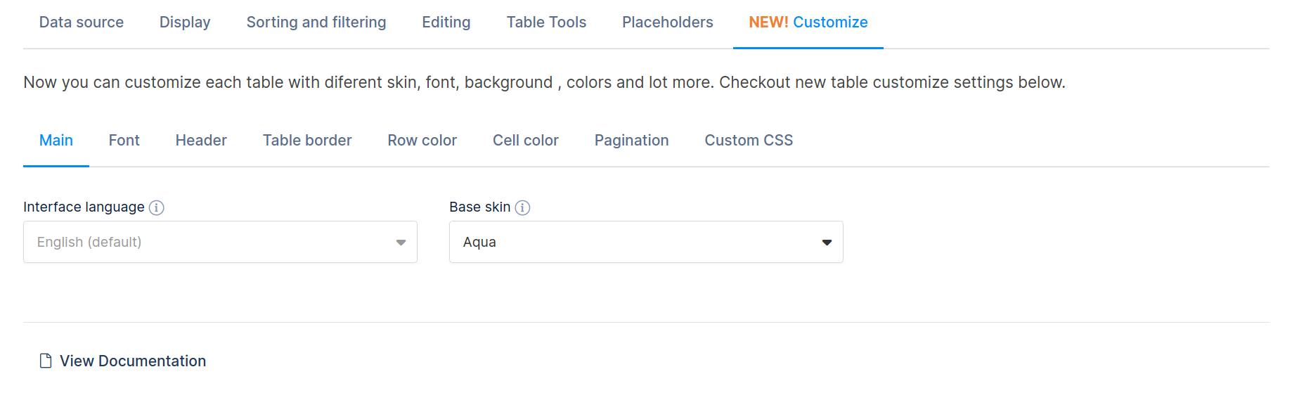 Customize table in WordPress