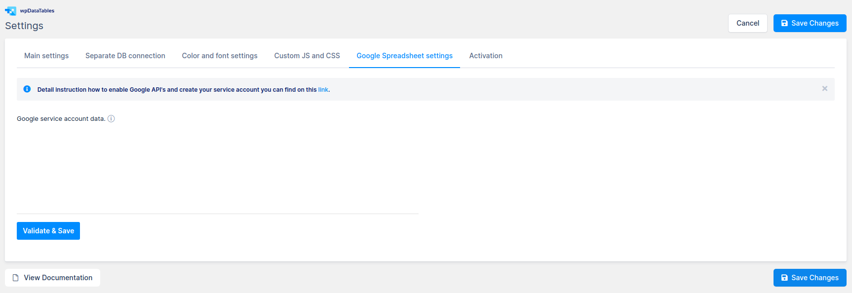Connect to Google Sheet API
