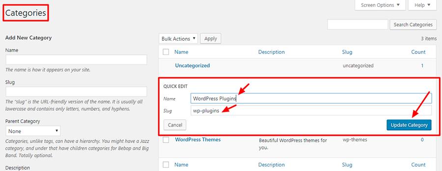 How to Edit Categories in WordPress Easily